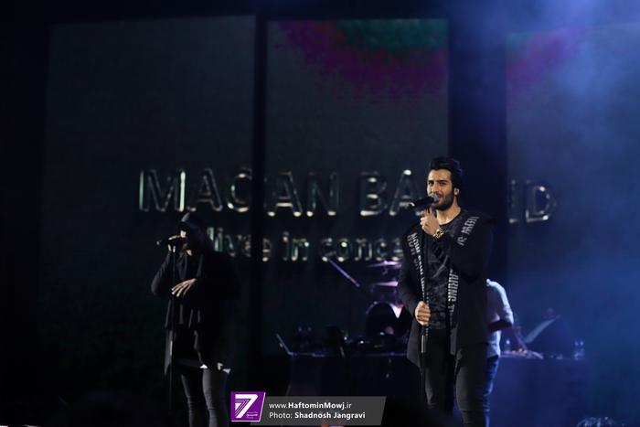 در پنجمین شب از جشنواره موسیقی فجر ماکان بند در تهران به روی صحنه رفت
